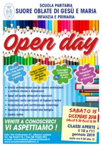 OPEN DAY- 15/12/2018